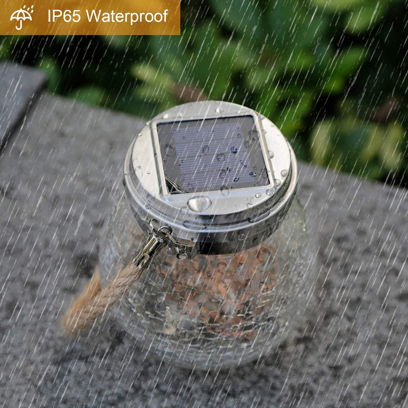 Solar-Powered Glass Jar Light OUTDOOR LIGHTS Smart saker
