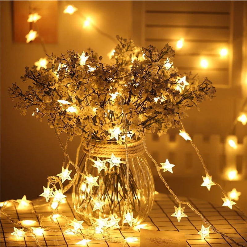 100 LED Star String Holiday Light HOME DECORATIVE LAMPS Smart saker Warm White