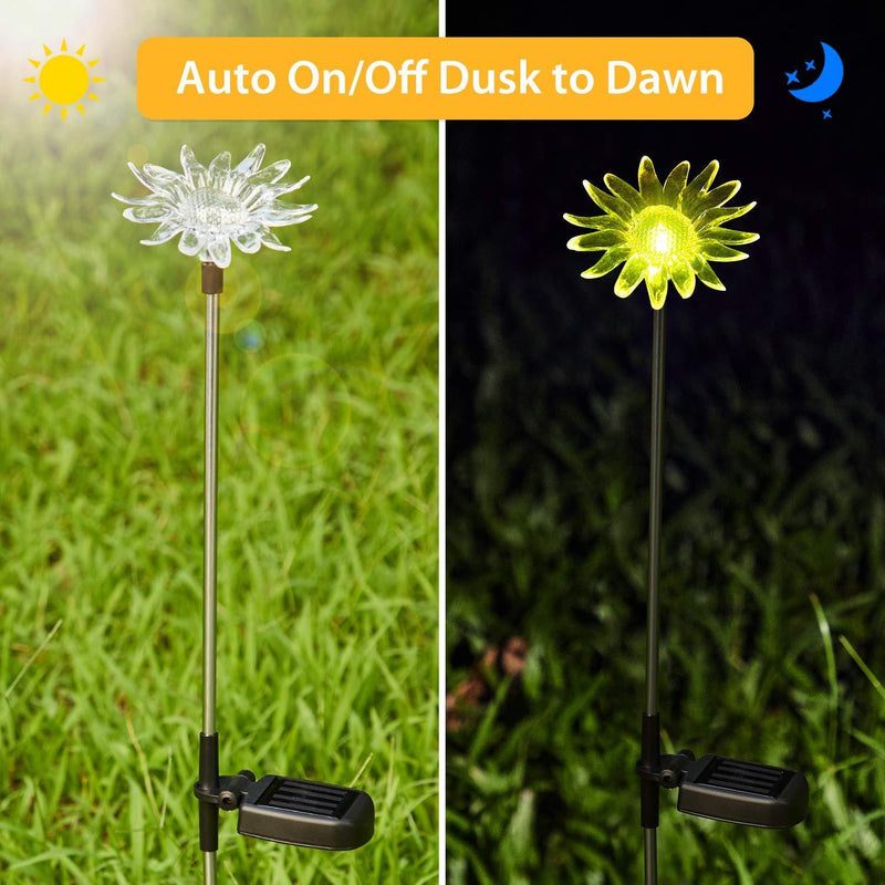Solar-Powered Dandelion Lily Sunflower Light