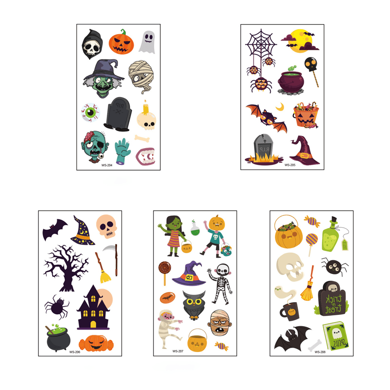 Luminous Halloween Tattoo Sticker OTHER LIFE TOOLS Smart saker Halloween Set 3