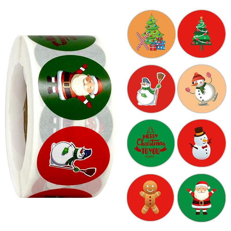Christmas Gift Wrapping & Decoration Stickers OTHER LIFE TOOLS Smart saker TYPE3(500pcs)