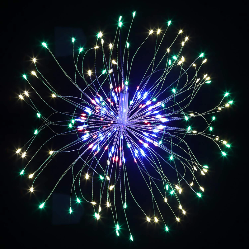 LED Copper Wire Starburst String Firework Lights, 120 brilliant LED lamp beads OUTDOOR LIGHTS smartsaker
