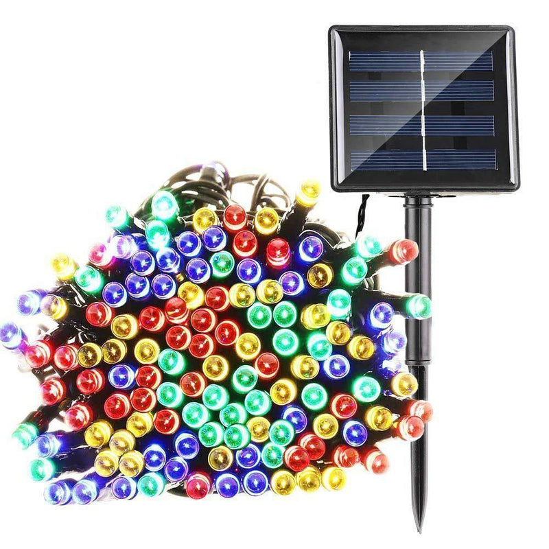 100 LED Solar Powered String Fairy Lights OUTDOOR LIGHTS smartsaker Multi Color