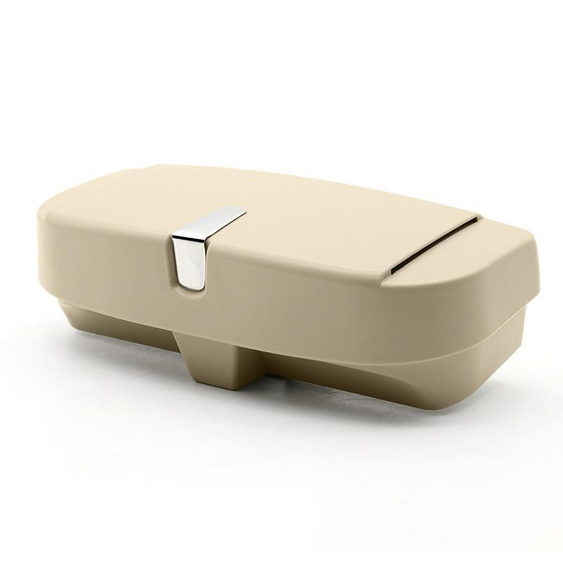Universal Car Visor Sunglasses Case CAR PRODUCTS AND TOOLS Smart saker beige