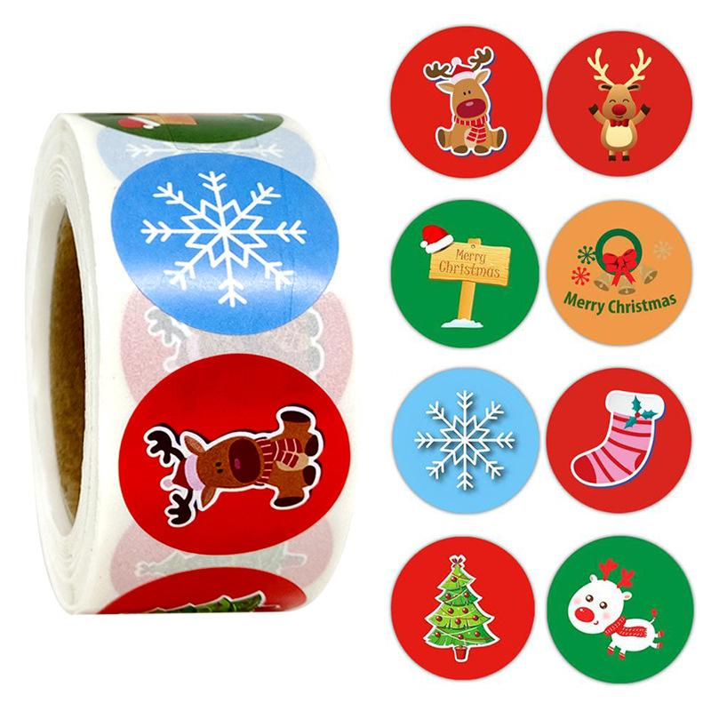 Christmas Gift Wrapping & Decoration Stickers OTHER LIFE TOOLS Smart saker TYPE2(500pcs)