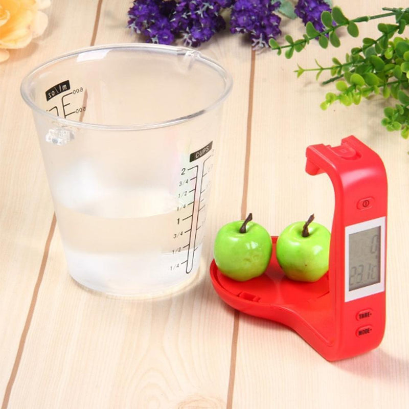 Hirundo Digital Measuring Cup and Scale, Red