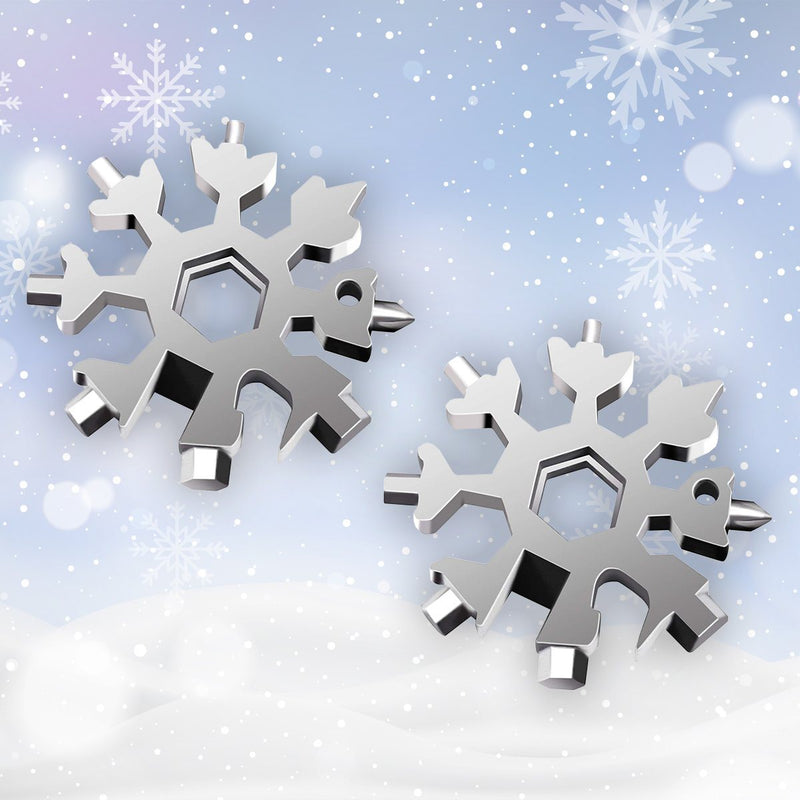 Copy of 2020 Saker 18-in-1 Snowflake Multi-Tool MULTITOOLS smartsaker normal packing 2 * silver