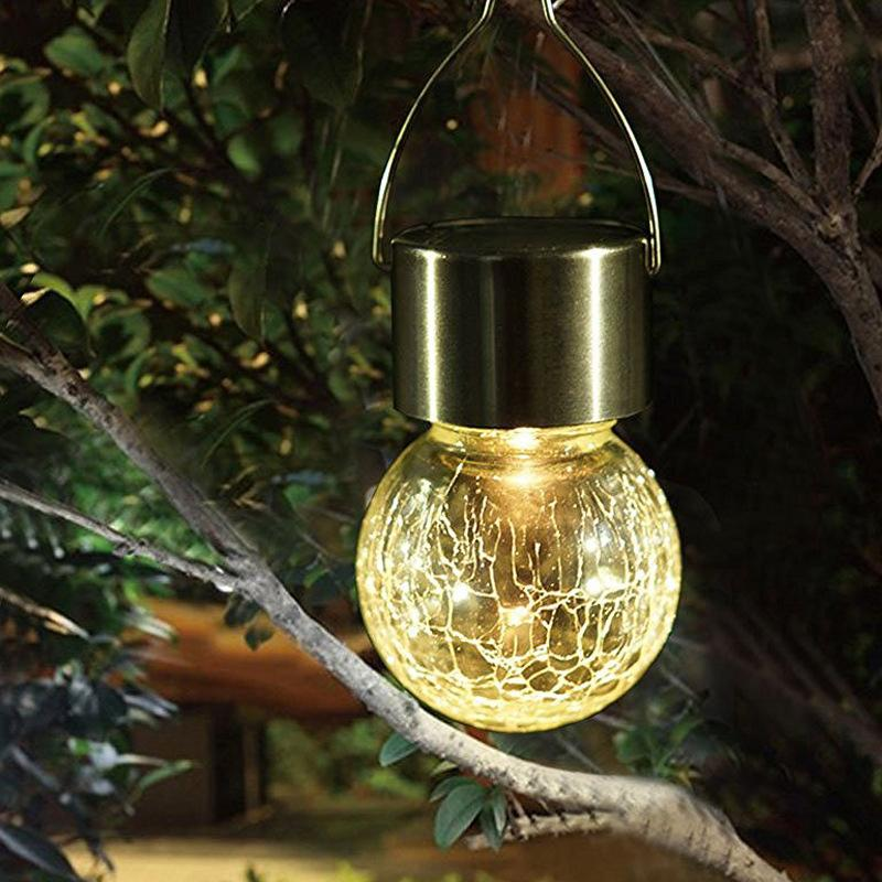 Hanging Solar Glass Ball Lights(4PCS) OUTDOOR LIGHTS Smart saker WARM WHITE