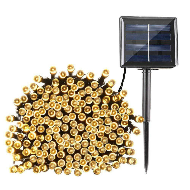 100 LED Solar Powered String Fairy Lights OUTDOOR LIGHTS smartsaker Warm White