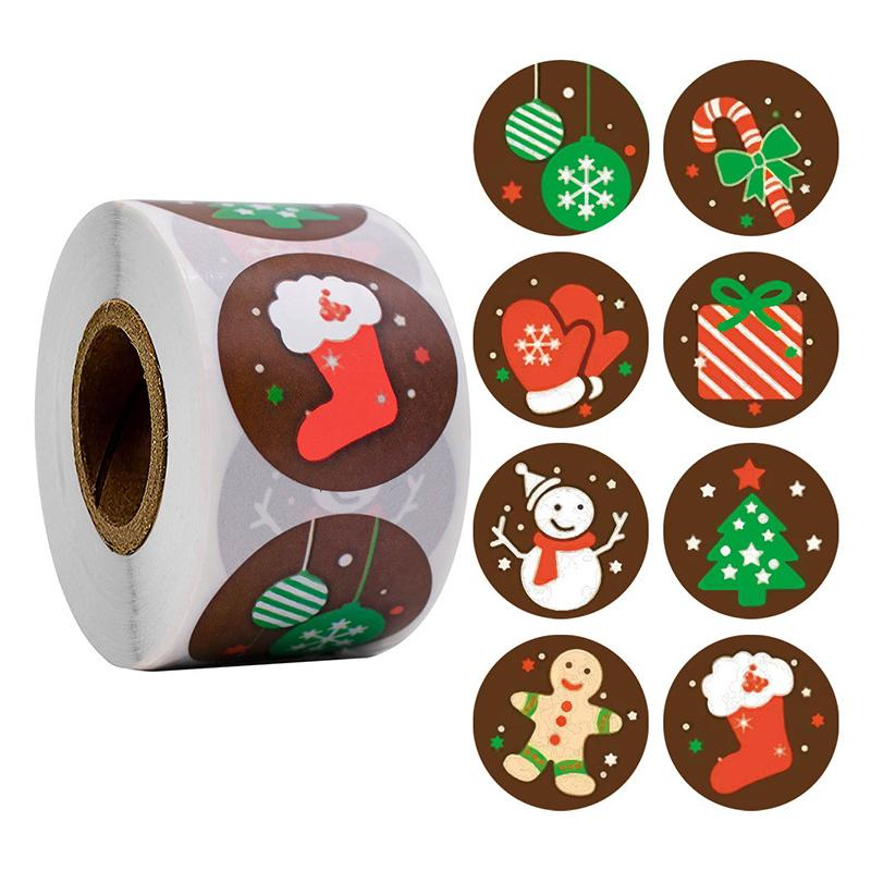 Christmas Gift Wrapping & Decoration Stickers OTHER LIFE TOOLS Smart saker TYPE1(500pcs)