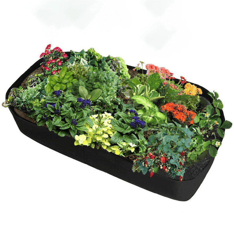 Divided Fabric Raised Bed RAISED GARDEN BED Smart saker 8 Grids