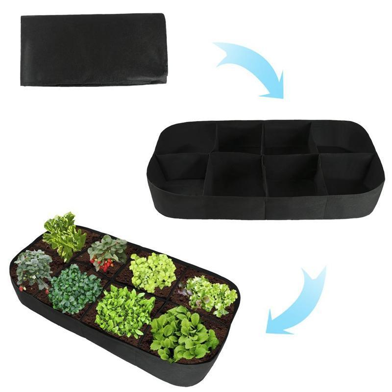 Divided Fabric Raised Bed RAISED GARDEN BED Smart saker