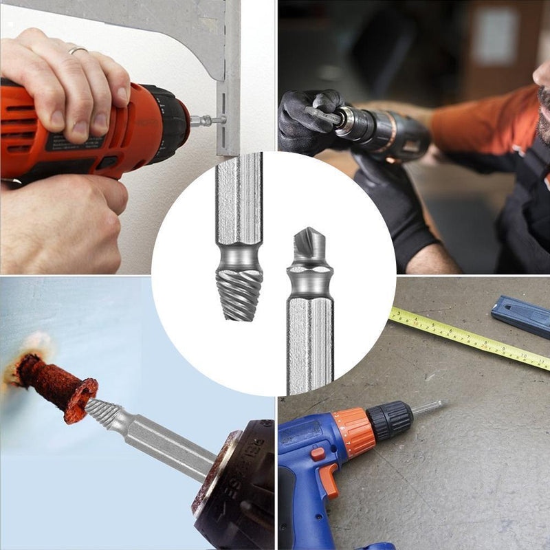 Domom® Damaged Screw Extractor (Set of 4) DRILLS & DRIVERS Smart saker