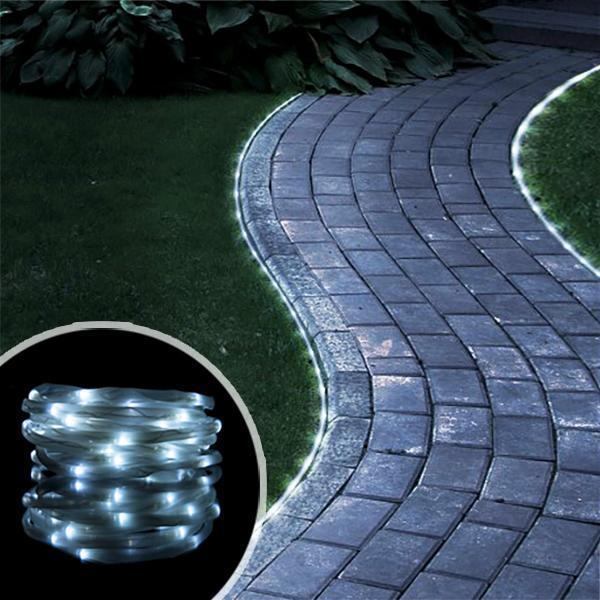Solar Strips Light For Garden OUTDOOR LIGHTS Smart saker Cool-white