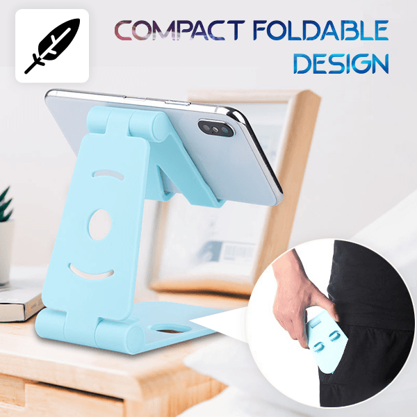 Foldable Swivel Phone Stand Smart saker Blue