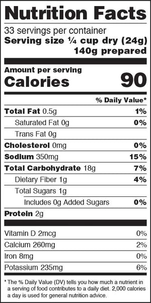 Rustic Homestyle Russets Nutrition Facts