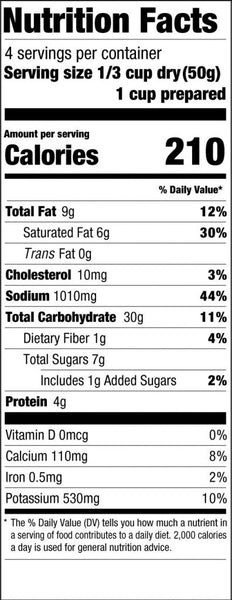 Loaded Baked Potato Soup Nutrition Facts