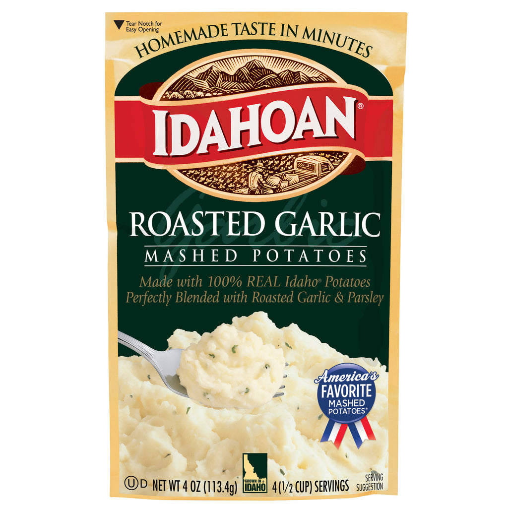 Idahoan® Roasted Garlic Mashed Potatoes, 4oz (Pack of 12)