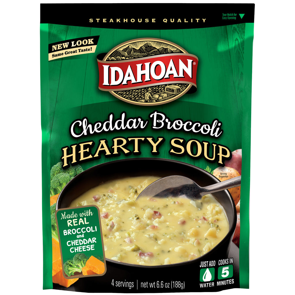Idahoan® Cheddar Broccoli Potato Hearty Soup, 6.6 oz (Pack of 8)