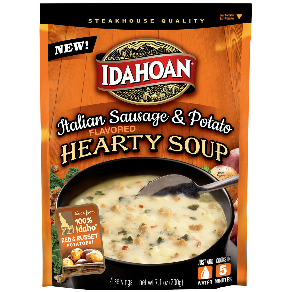 Idahoan® Italian Sausage & Potato Hearty Soup, 7.1 oz (Pack of 8)