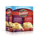 Idahoan® Au Gratin & Scalloped Homestyle Casserole Combo Pack (3 of each), 4oz (Pack of 6)