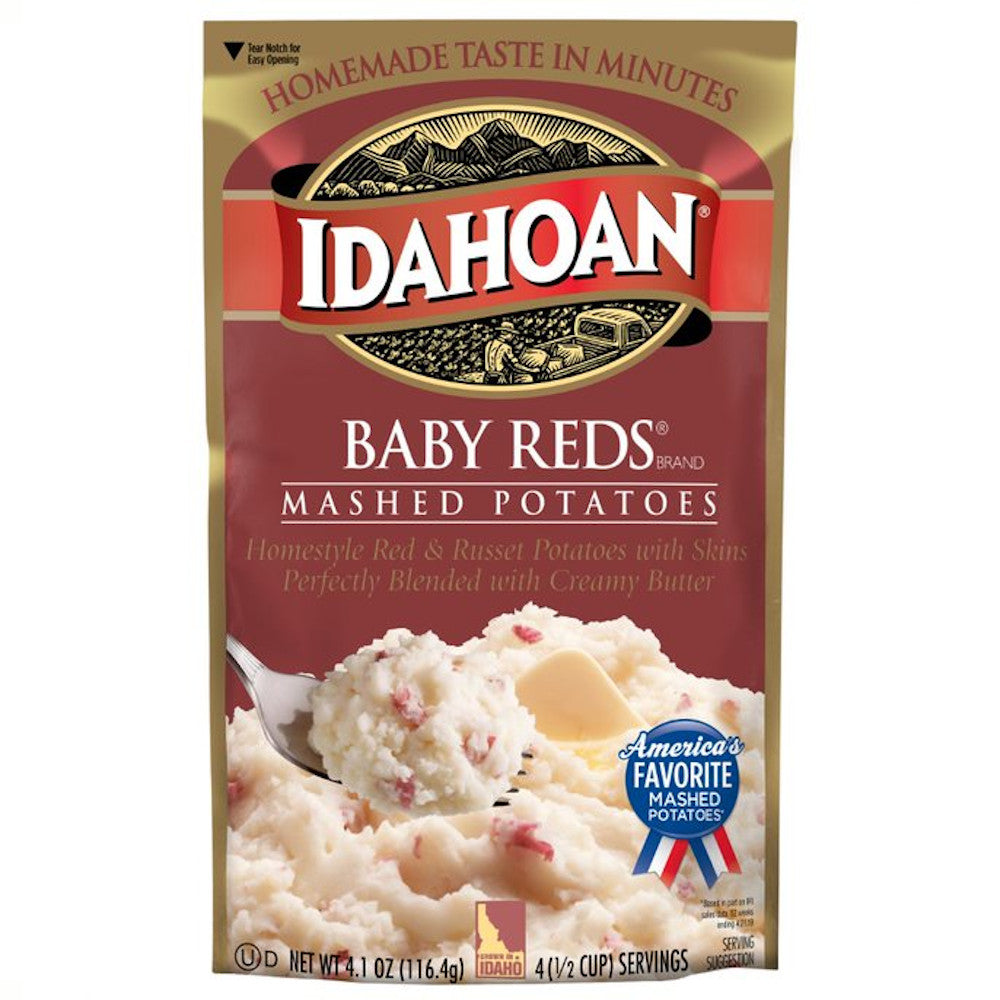 Idahoan® Baby Reds Mashed Potatoes, 4.1oz (Pack of 10)