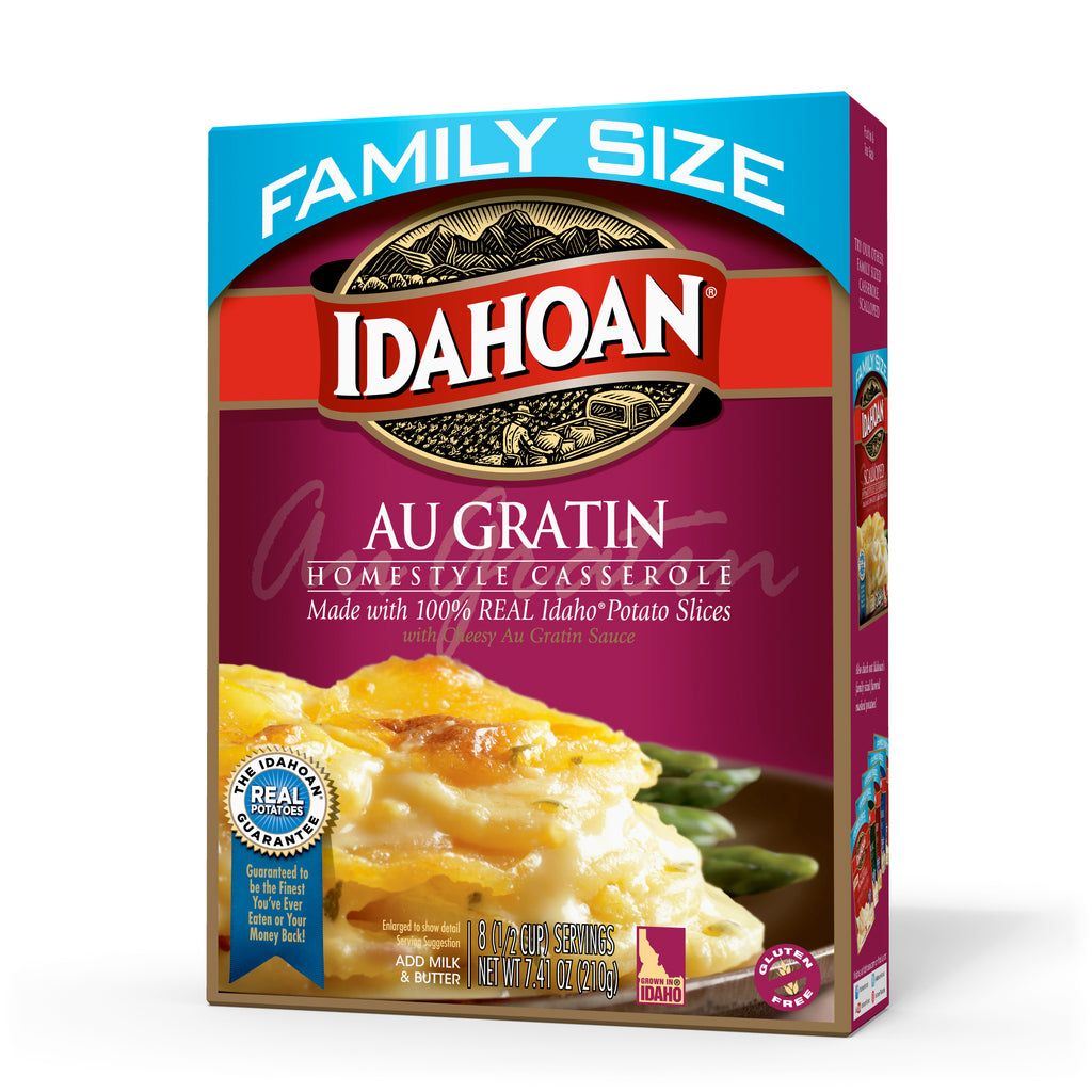 Idahoan Au Gratin Homestyle Casserole Family Size, 7.34 oz (Pack of 10)