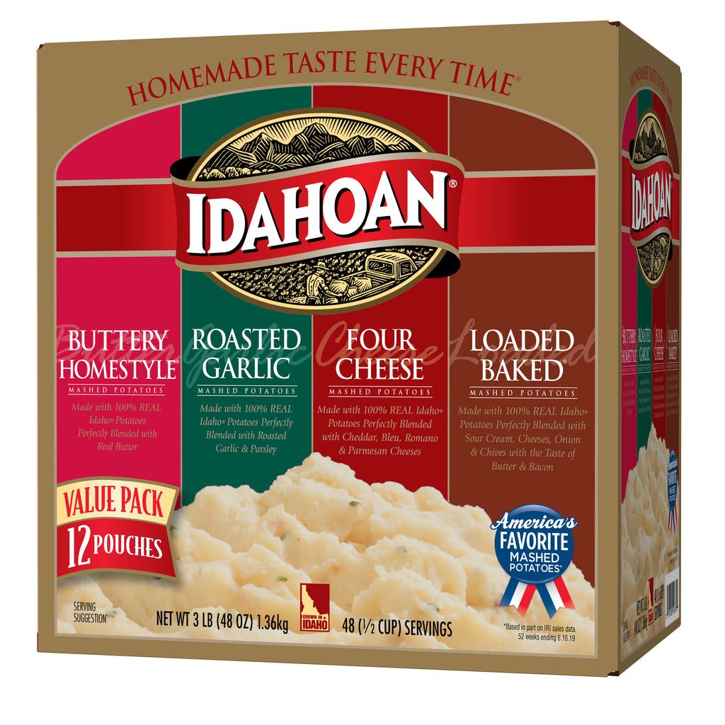 Idahoan® Flavored Mashed Variety Pack, 4oz (Pack of 12)