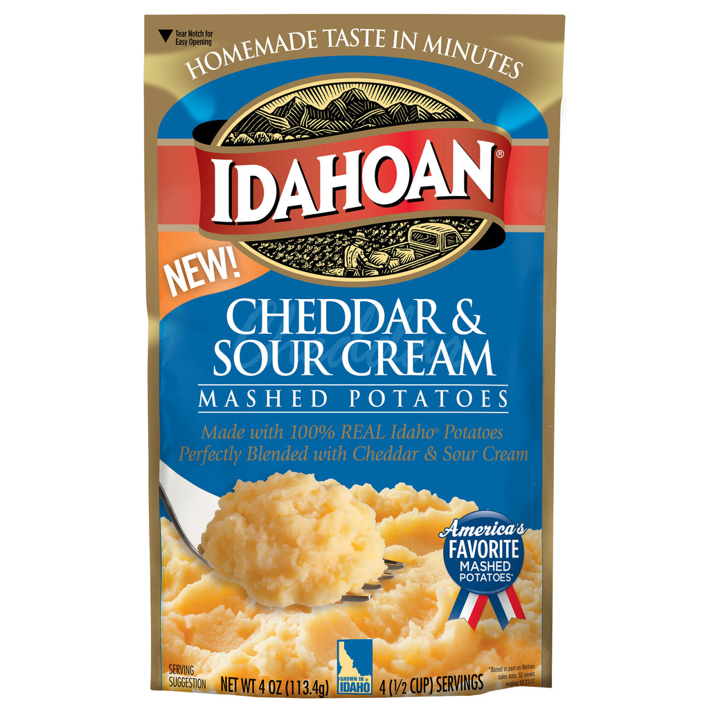 Idahoan® Cheddar & Sour Cream Mashed, 4 oz (Pack of 12)