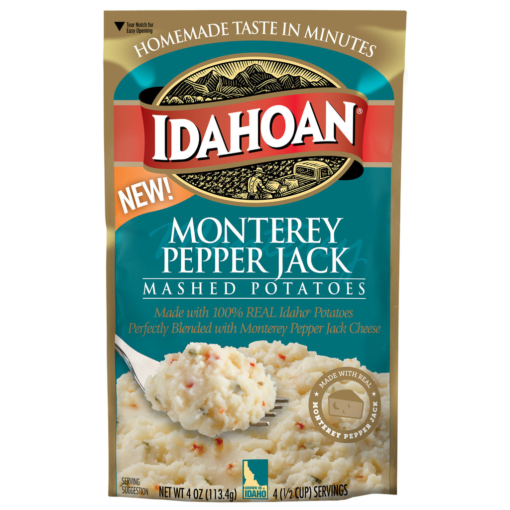 Idahoan® Monterey Pepper Jack Mashed, 4 oz (Pack of 12)