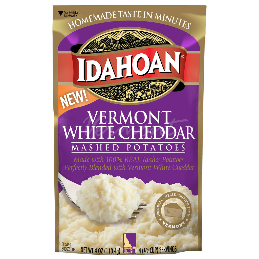Idahoan® Vermont White Cheddar Mashed, 4 oz (Pack of 12)