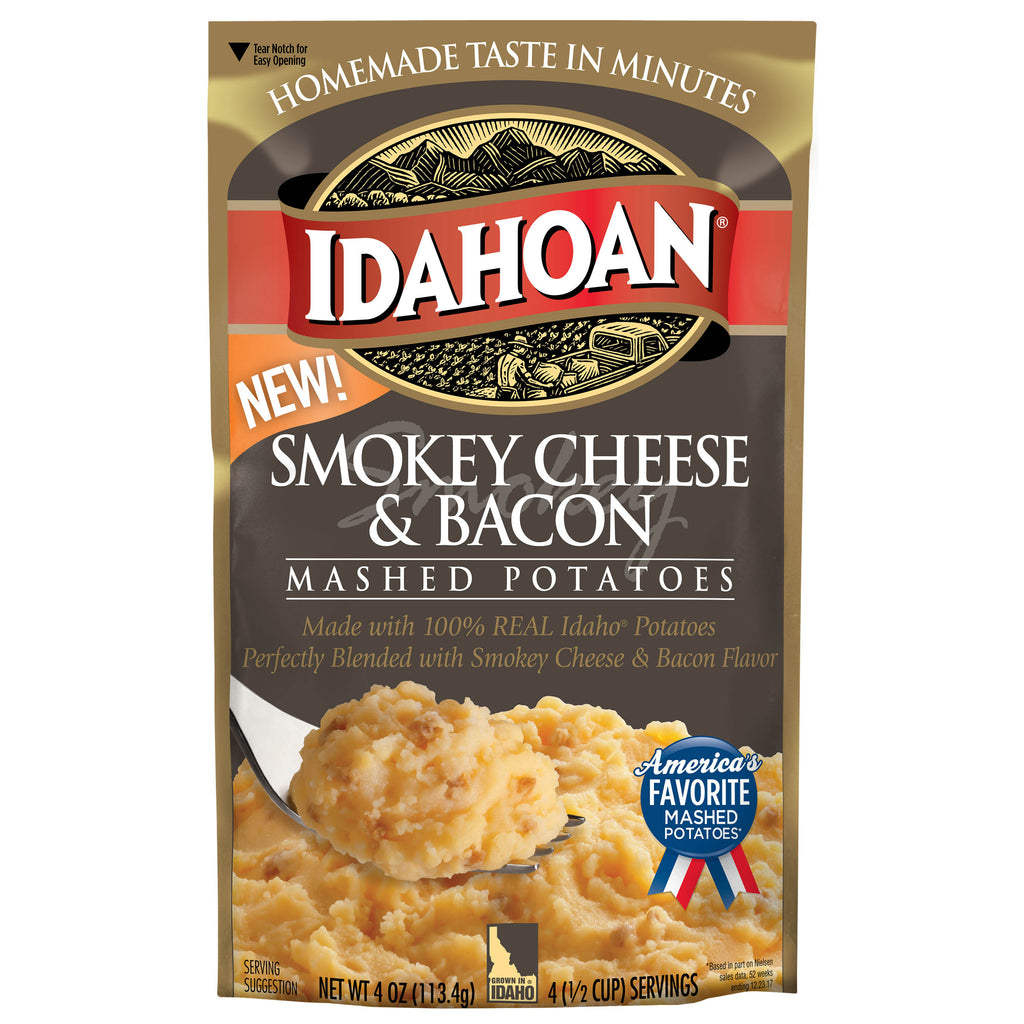 Idahoan® Smokey Cheese & Bacon Mashed, 4 oz (Pack of 12)