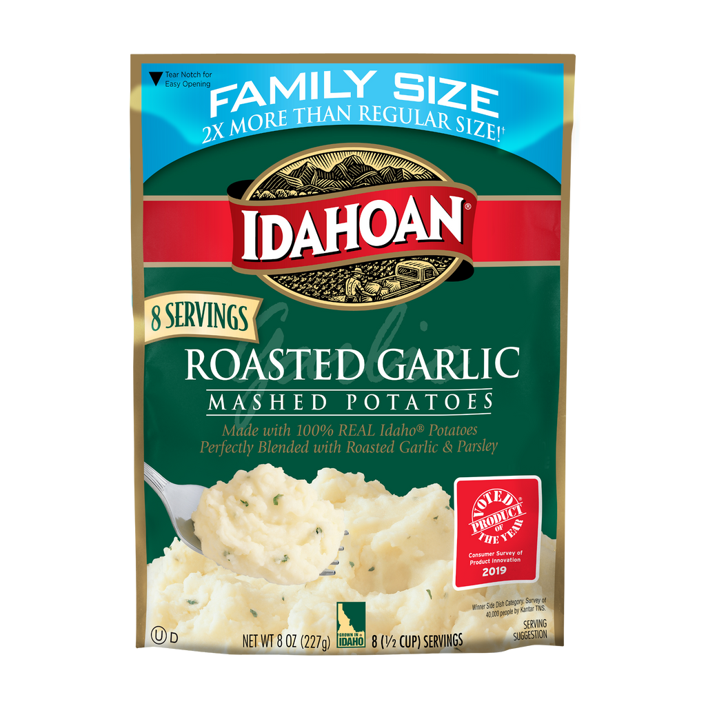 Idahoan® Roasted Garlic Mashed Family Size, 8 oz (Pack of 8)
