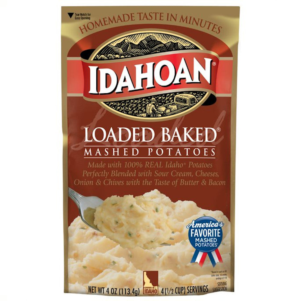 Idahoan® Loaded Baked Mashed Potatoes, 4oz (Pack of 12)