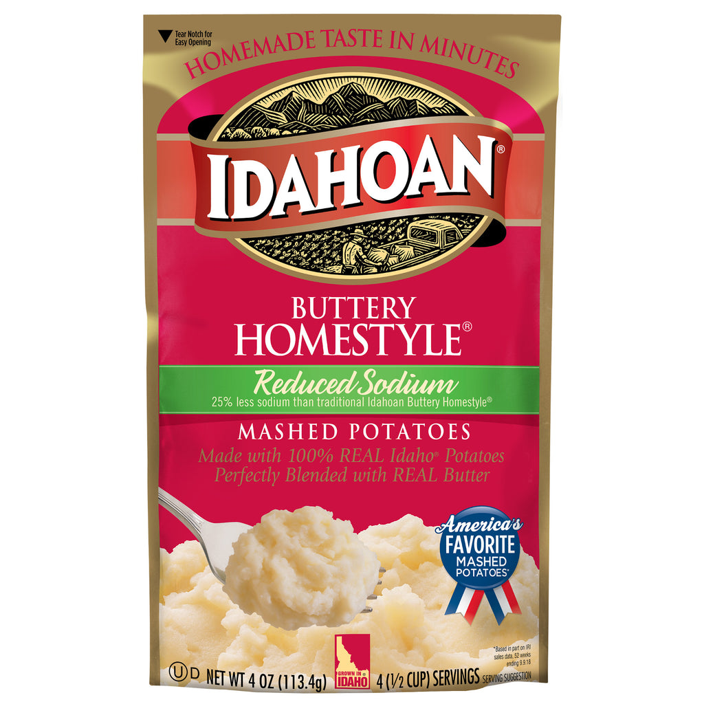 Idahoan Buttery Homestyle® Reduced Sodium, 4 oz (Pack of 12)