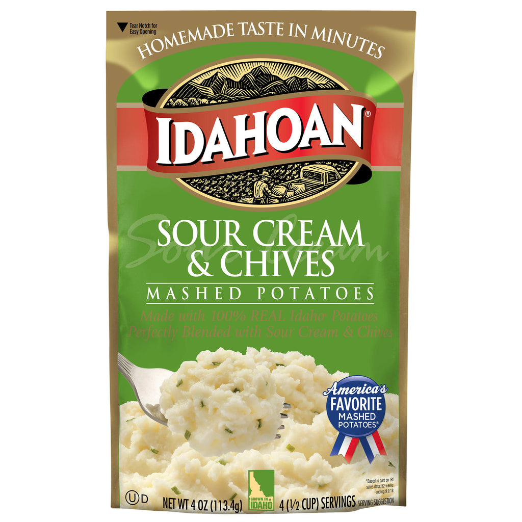 Idahoan® Sour Cream & Chives Mashed, 4 oz (Single Pouch)