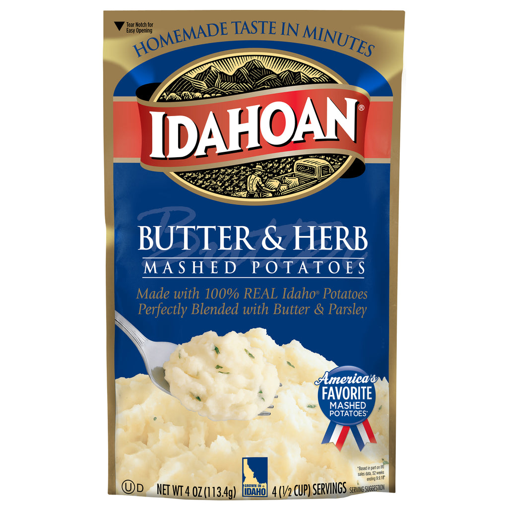 Idahoan® Butter & Herb Mashed Potatoes, 4oz (Pack of 12)