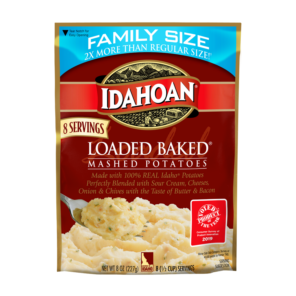 Idahoan Loaded Baked® Mashed Family Size, 8 oz (Pack of 8)