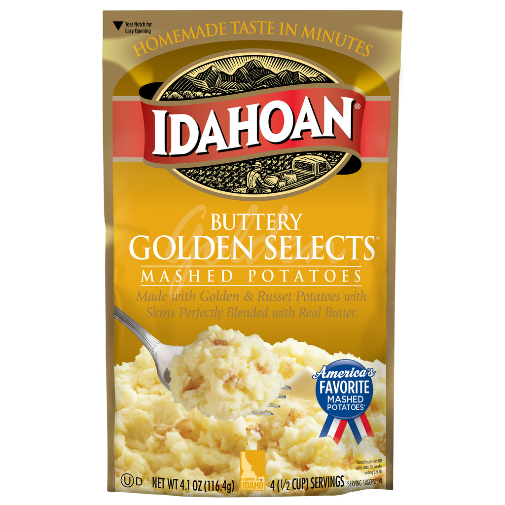 Idahoan Buttery Golden Selects® Mashed, 4.1 oz (Pack of 10)