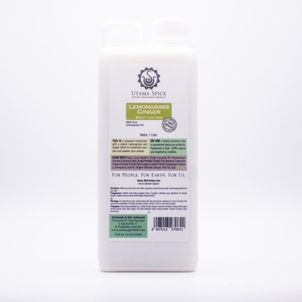 Lemongrass Ginger Body Lotion (1lt)