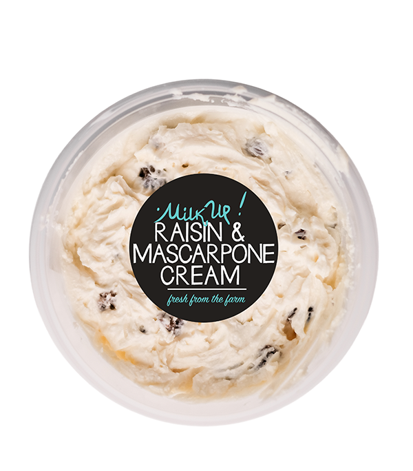 Milk Up Raisin & Mascarpone Cream (250g)