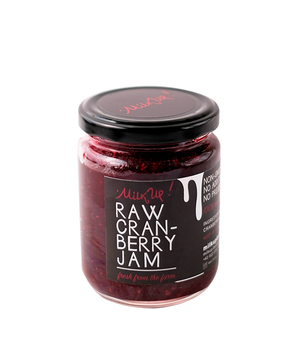 Milk Up Raw Cranberry Jam (230ml)