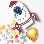Children's Clock with Pendulum <br>Rocket - My Wall Clock