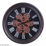 Steampunk Clock Rotating Gears - My wall clocks