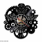 Vinyl Clock Nice Steampunk Owl - My wall clocks