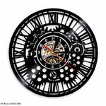 Vinyl Clock Steampunk Gears - My wall clocks