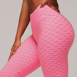 High-Waisted Booty Lifting x Anti-Cellulite Leggings - RoseRed / L
