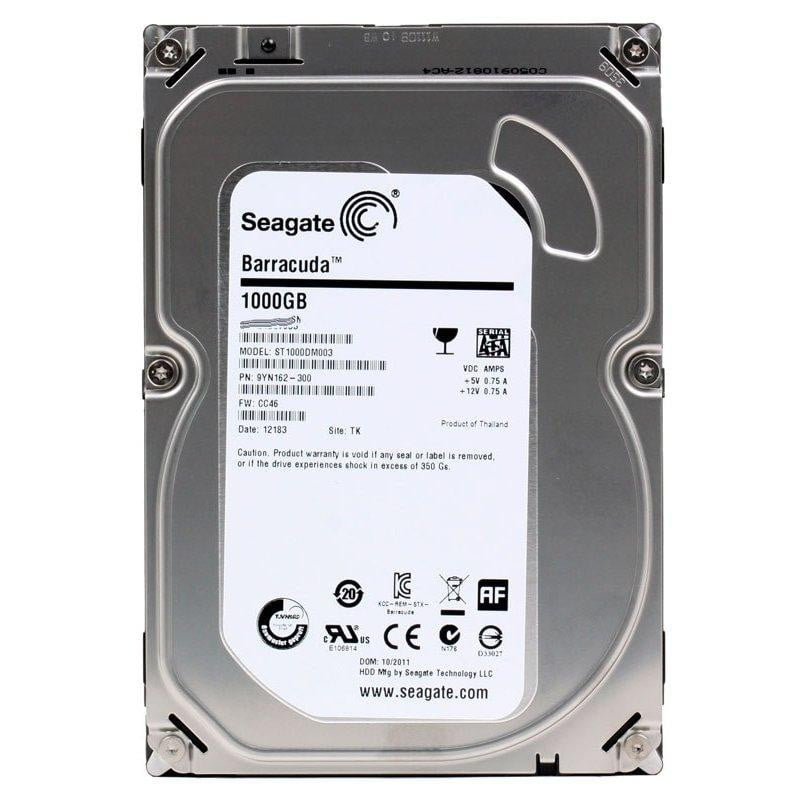 Seagate Barracuda ST1000DM003 1TB 7200 RPM 64MB Cache SATA 6.0Gb/s 3.5