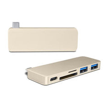 Type-C Card reader & hub 5 Ports, USB-C HUB 5 Ports Type C Docking Station For Macbook Pro To PD, SD/TF Card Reader, USB3.0