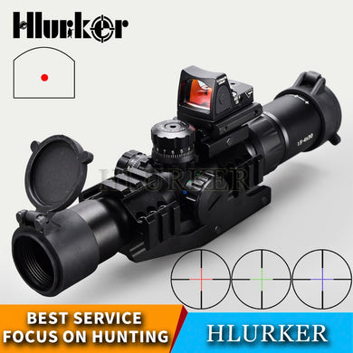 Hlurker Tactical 1.5-4x30 Hunting Optical Sight Rifle Scope Sight RMR Adjustable Red Dot Scope Spotting Scope For Rifle